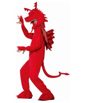 Mens Fire Red Dragon Costume