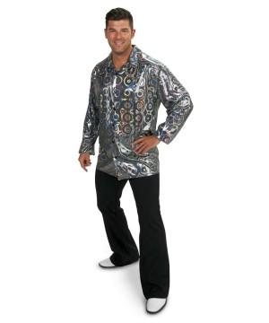 Mens plus Disco Party Shirt