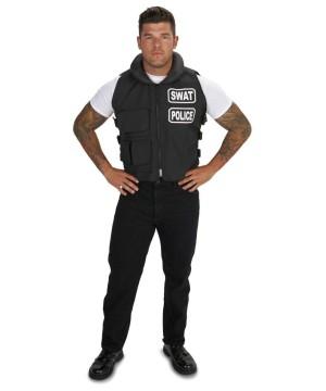 Mens plus Swat Team Black Vest
