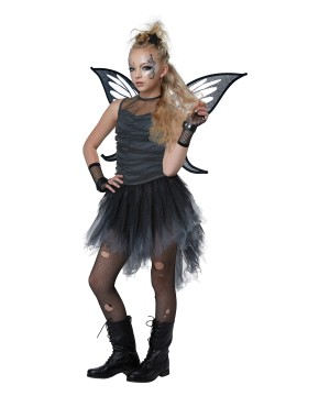 Black Fairy Girls Costume