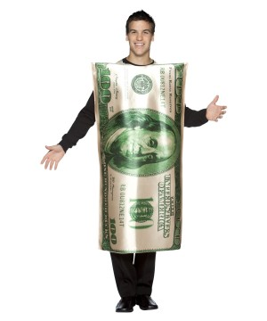 One Hundred Dollar Bill Mens Costume