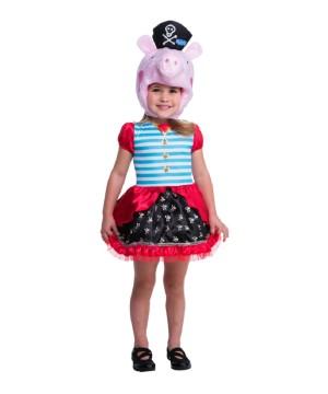 Toddler Girls Peppa Pig Pirate Costume