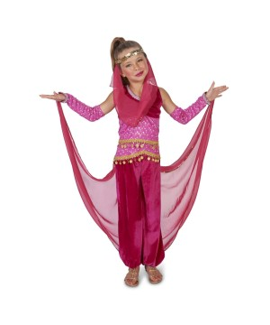 Girls Pink Genie Costume