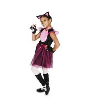 Pink Kitten Girls Costume