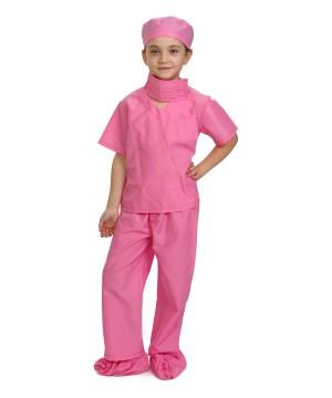 Pink Medical Doctor Girls Scrubs Costume