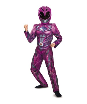 Pink Power Ranger Girls Movie Costume