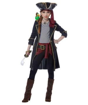 Pirate Captain Girls Costume