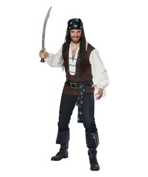 High Seas Pirate plus size Men Costume