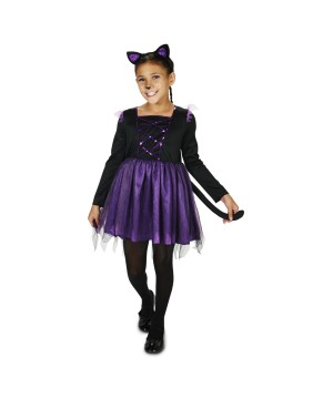 Purple Ballerina Kitty Girls Costume