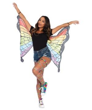 Womens Rainbow Butterfly Wings