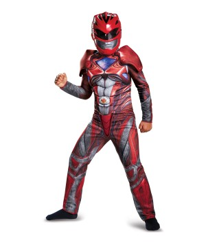Red Power Ranger Movie Boys Muscle Costume
