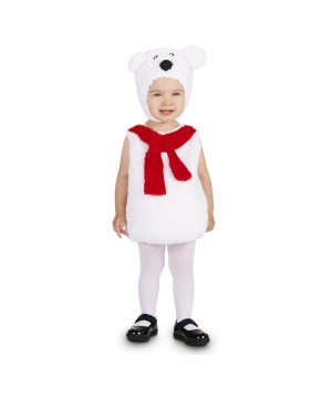 Red Scarf Polar Bear Baby Girls Costume