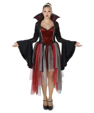 Red Velvet Goth Queen Womens Costume