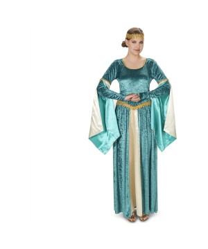 Renaissance Lady Elegant Velvet Dress