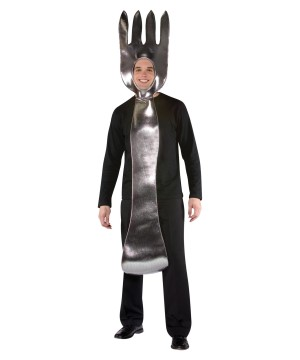 Silver Fork Utensil Adult Costume