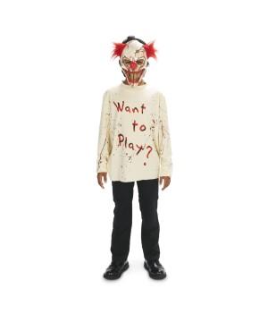 Sinister Playground Clown Boys Costume