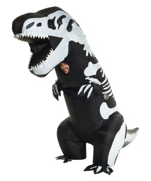 Skeleton T-rex Inflatable Mens Costume