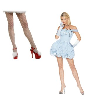 Southern Belle Women Costume and Fishnet Stockings Set