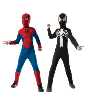 Spiderman Venom Reversible Boys Costume