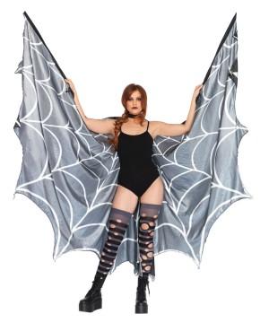 Womens Spiderweb Halter Wing Cape