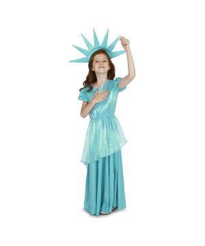 Statue of Liberty Girls Costume