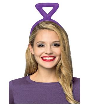 Teletubbies Tinky Winky Purple Triangle Antenna Womens Headband.