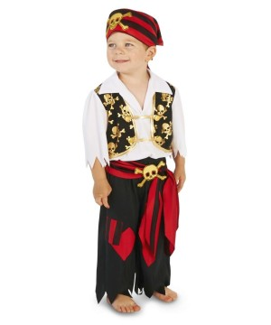Toddler Boys Captain of the Sea Pirate Costume