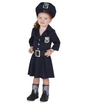Toddler Girls Police Costume