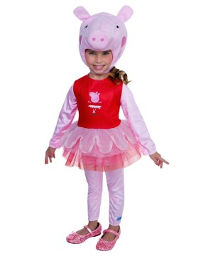 Toddler Girls Peppa Pig Ballerina Costume