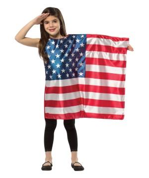 Girls Usa Flag Dress Costume