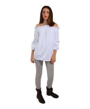 Renaissance Long Sleeve White Blouse Women Shirt