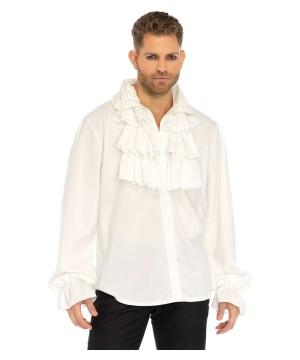 White Ruffled Men Shirt
