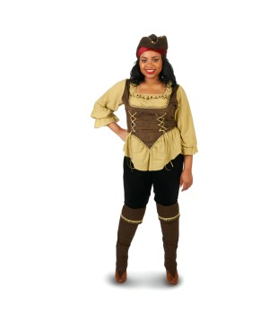 Womens plus Buccaneer Pirate Costume