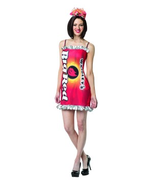 Womens Wrigleys big Red Gum Dress Costume