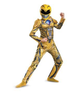 Power Rangers Movie Yellow Ranger Kids Costume