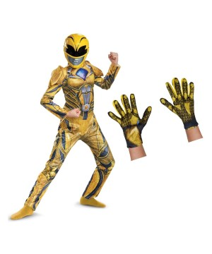 Yellow Power Ranger Kids Movie Costume Set
