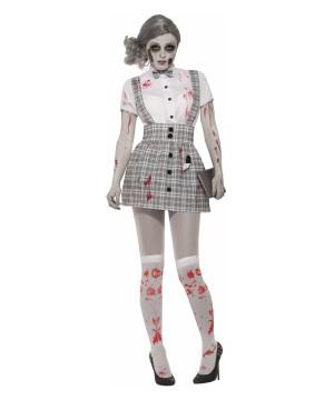 Zombie School Girl Women Costume