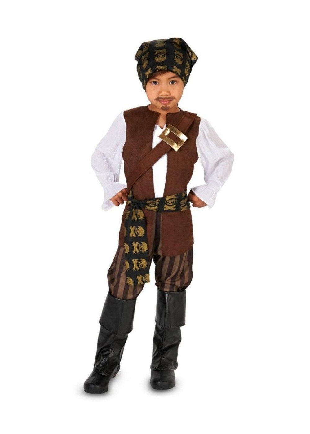 Any kid who dreams of a pirate's life will love our selection of Child Pirate Costumes. We have costumes for boys and for girls. They come in sizes from infant through teen. Your child can portray a specific TV or movie character, or create a unique one. Jack Sparrow, Angelica, Elizabeth Swann or Jake of Neverland. Blackbeard. Davy Jones.