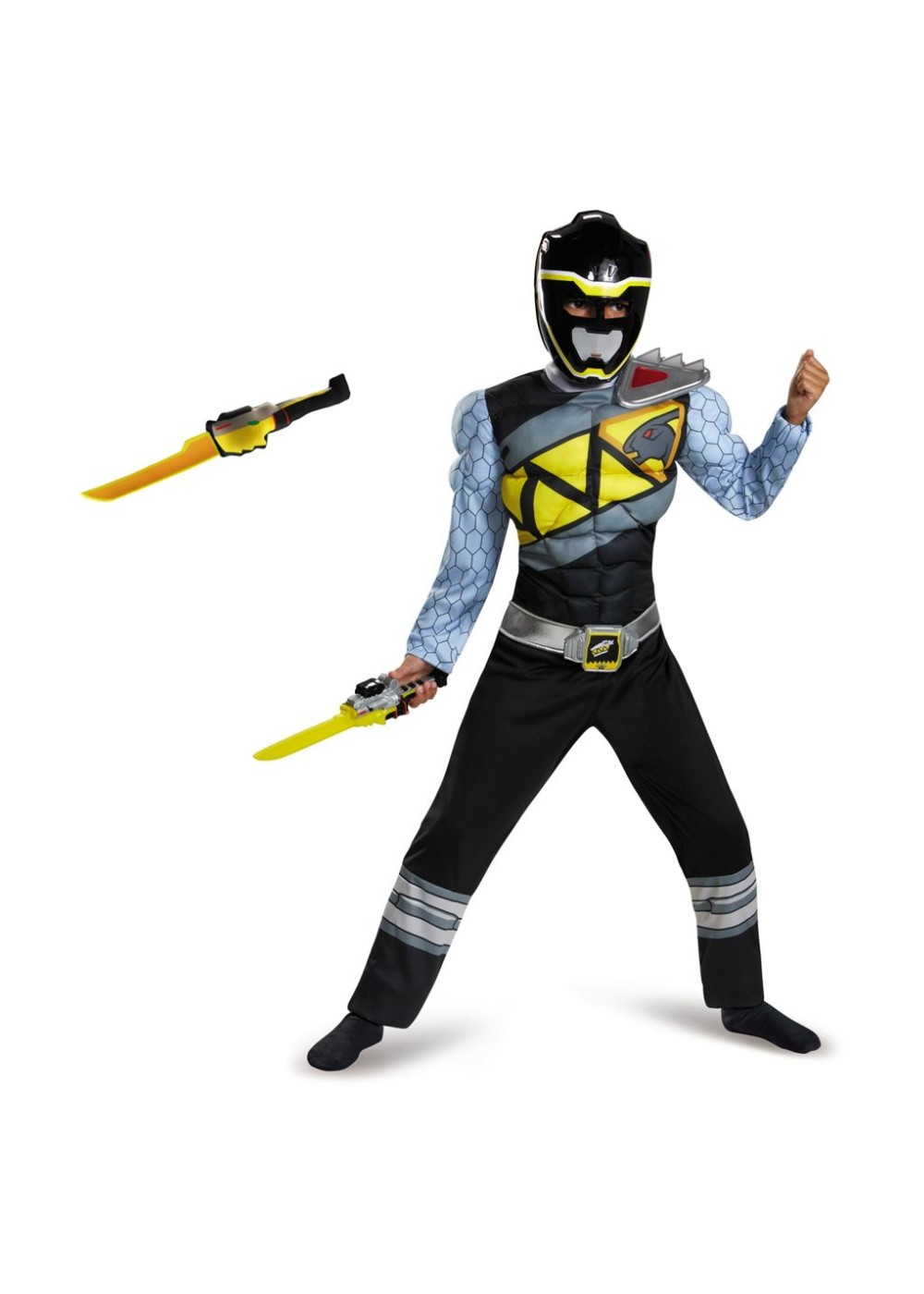 Target Toys For Boys Swords : Black power ranger dino charge boys costume and toy sword