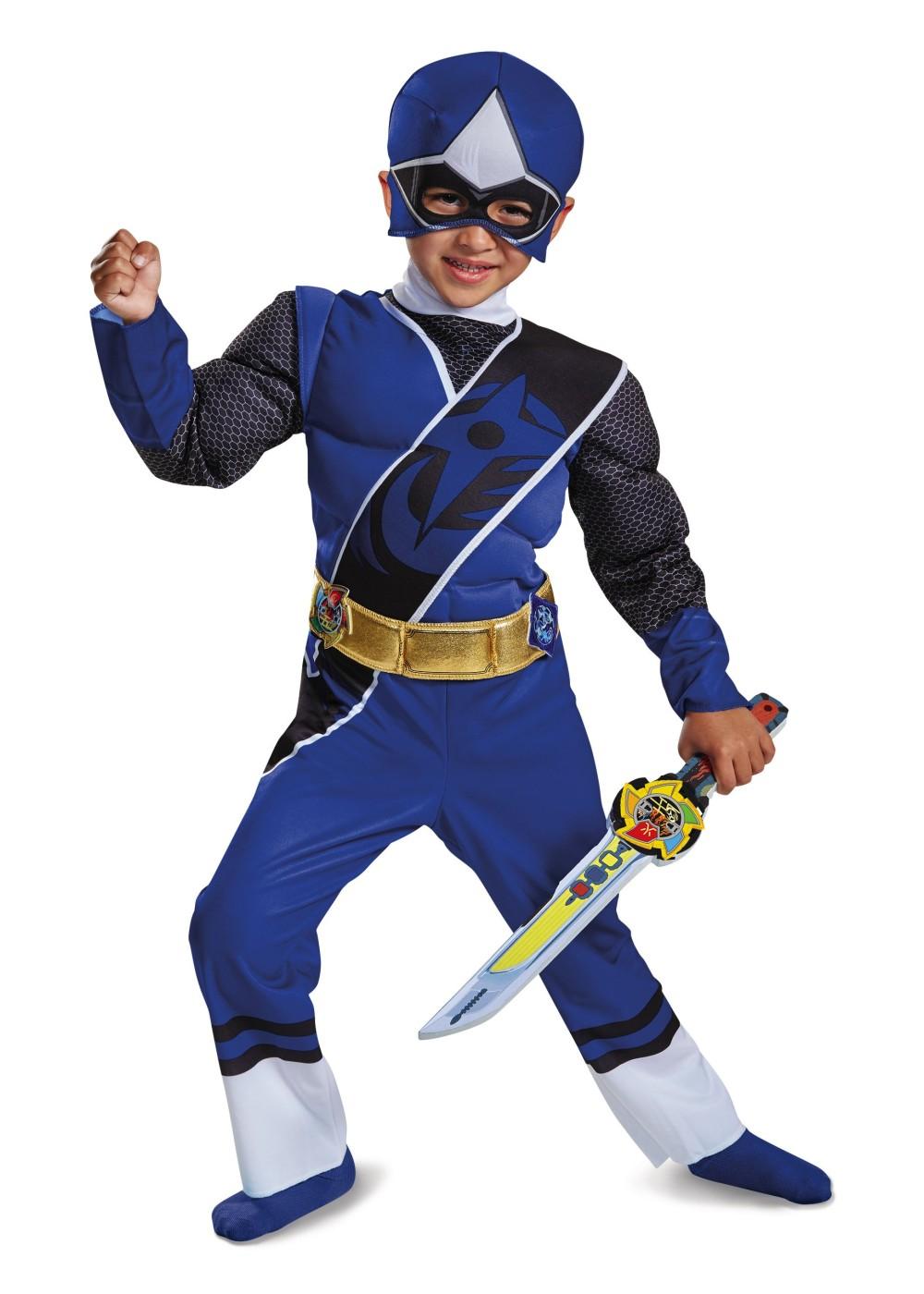 blue power ranger toddler boys costume tv show costumes