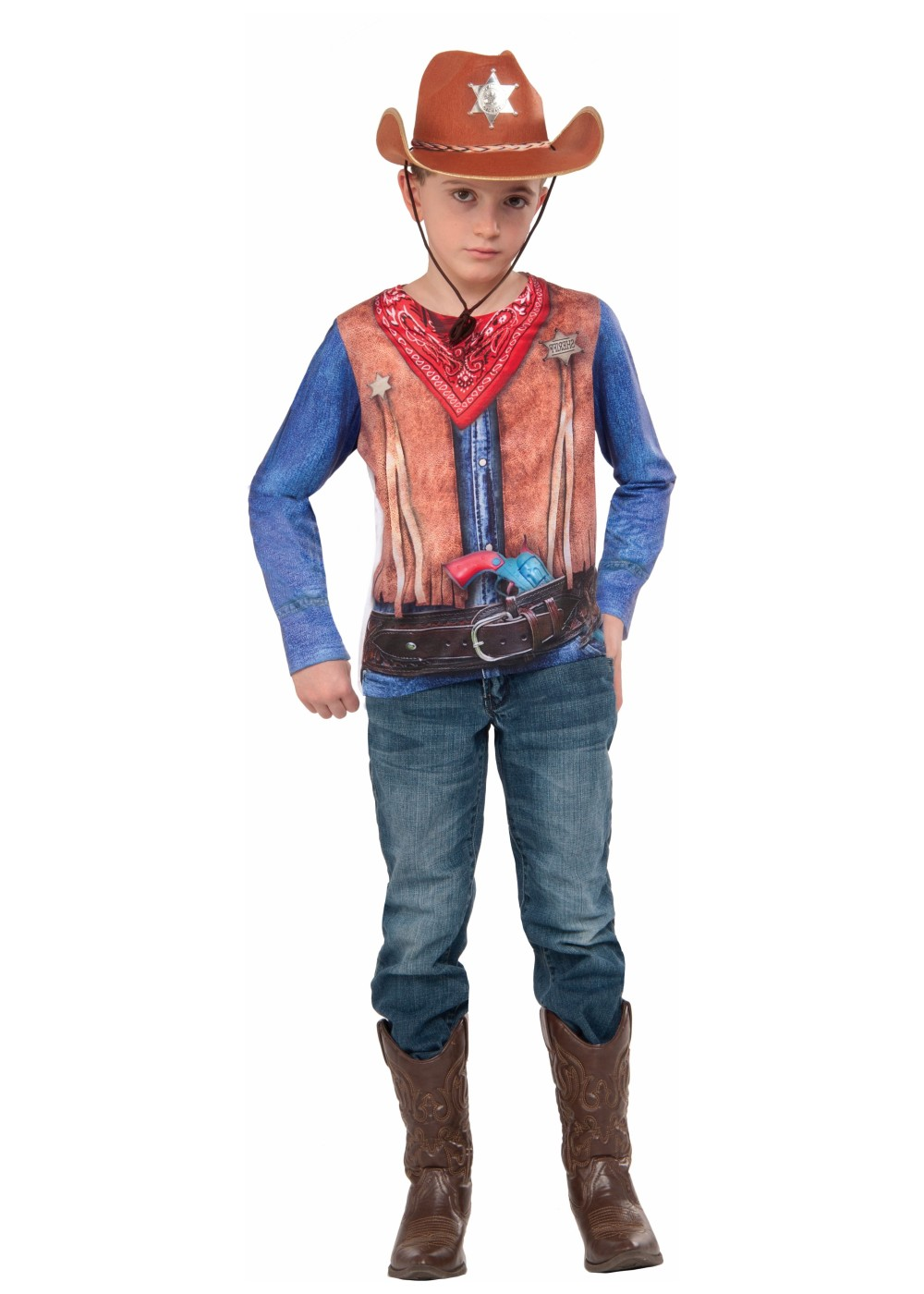 3d Cowboy Boys Costume Shirt