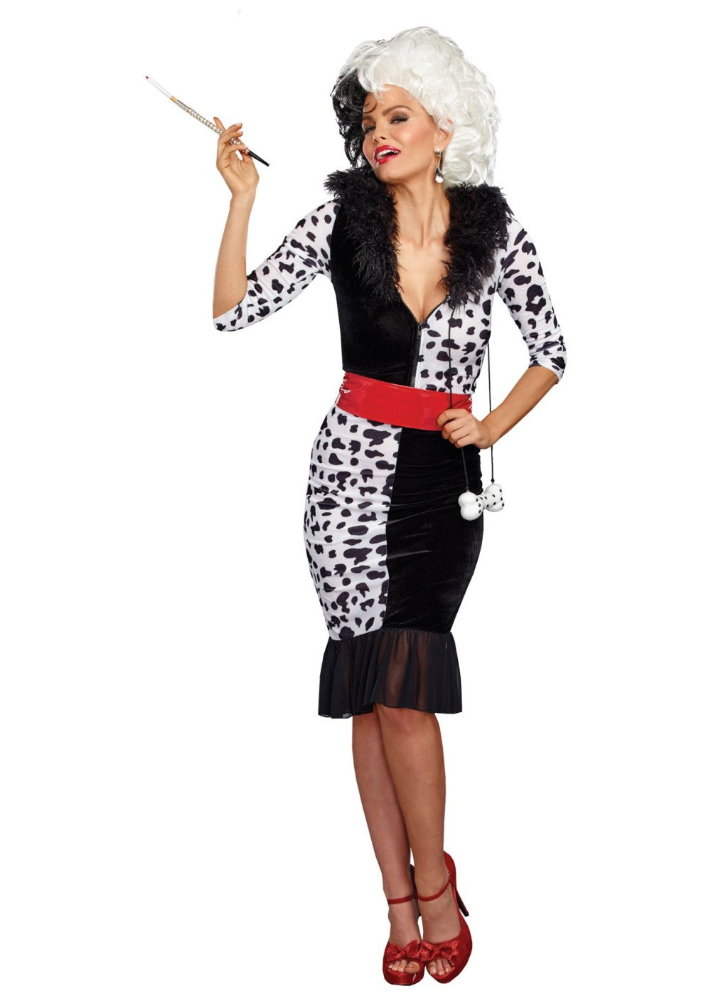cruella de vil womens costume disney costumes new for 2017. Black Bedroom Furniture Sets. Home Design Ideas