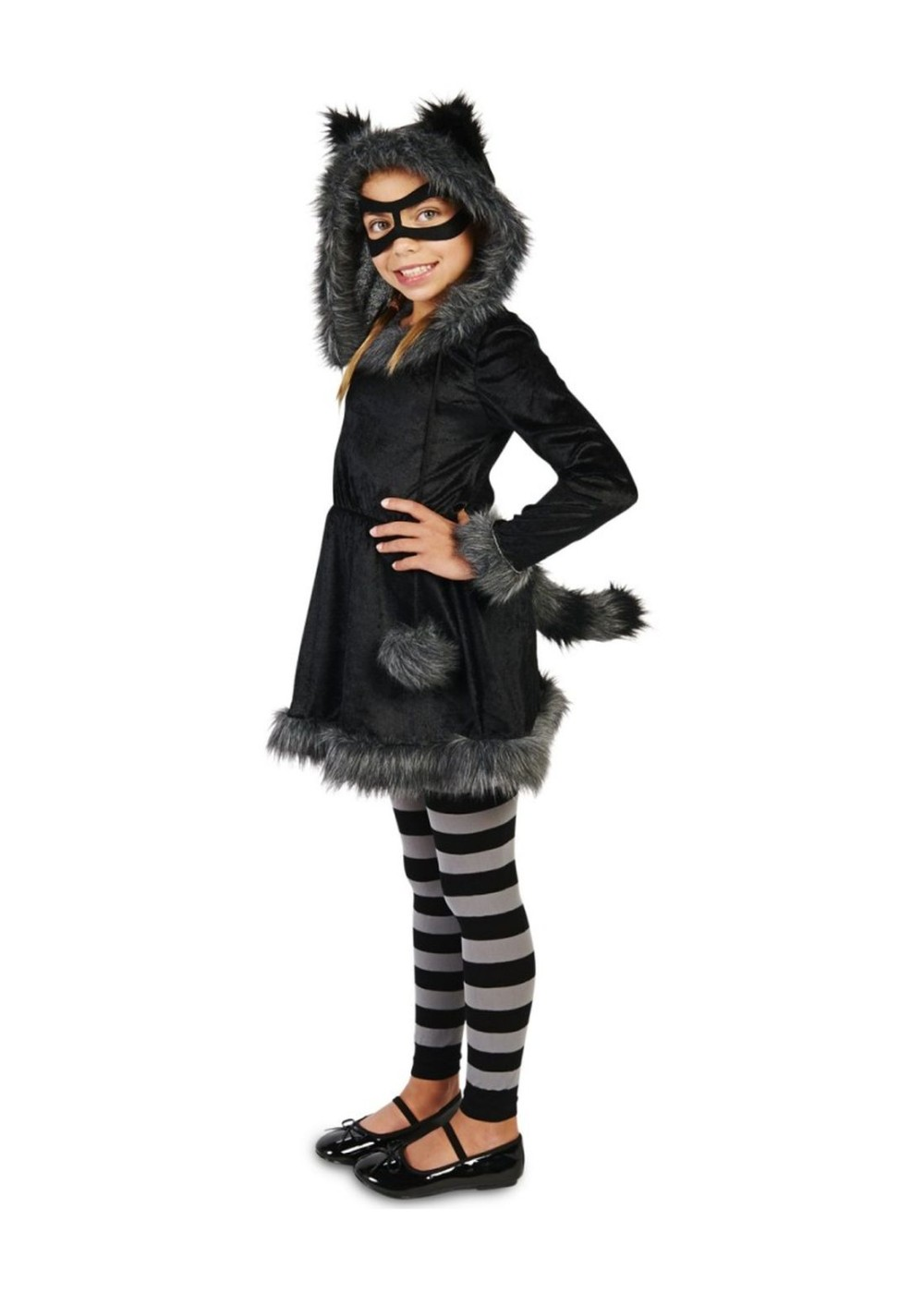 Girls Sneaky Raccoon Costume Animal Costumes