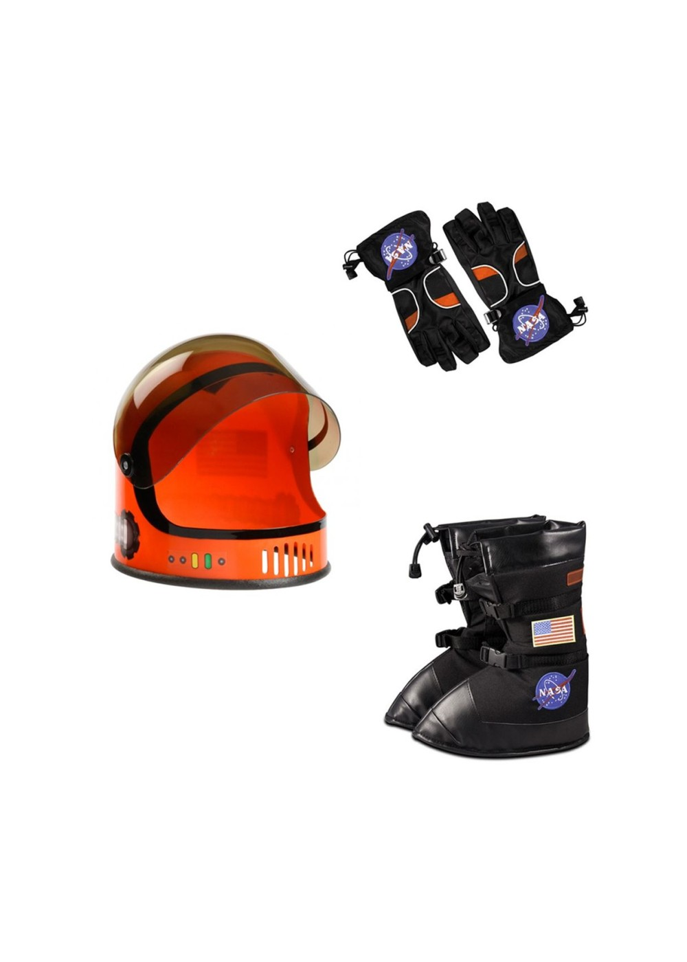 Nasa Orange Astronaut Helmet Gloves And Boots Boys Costume