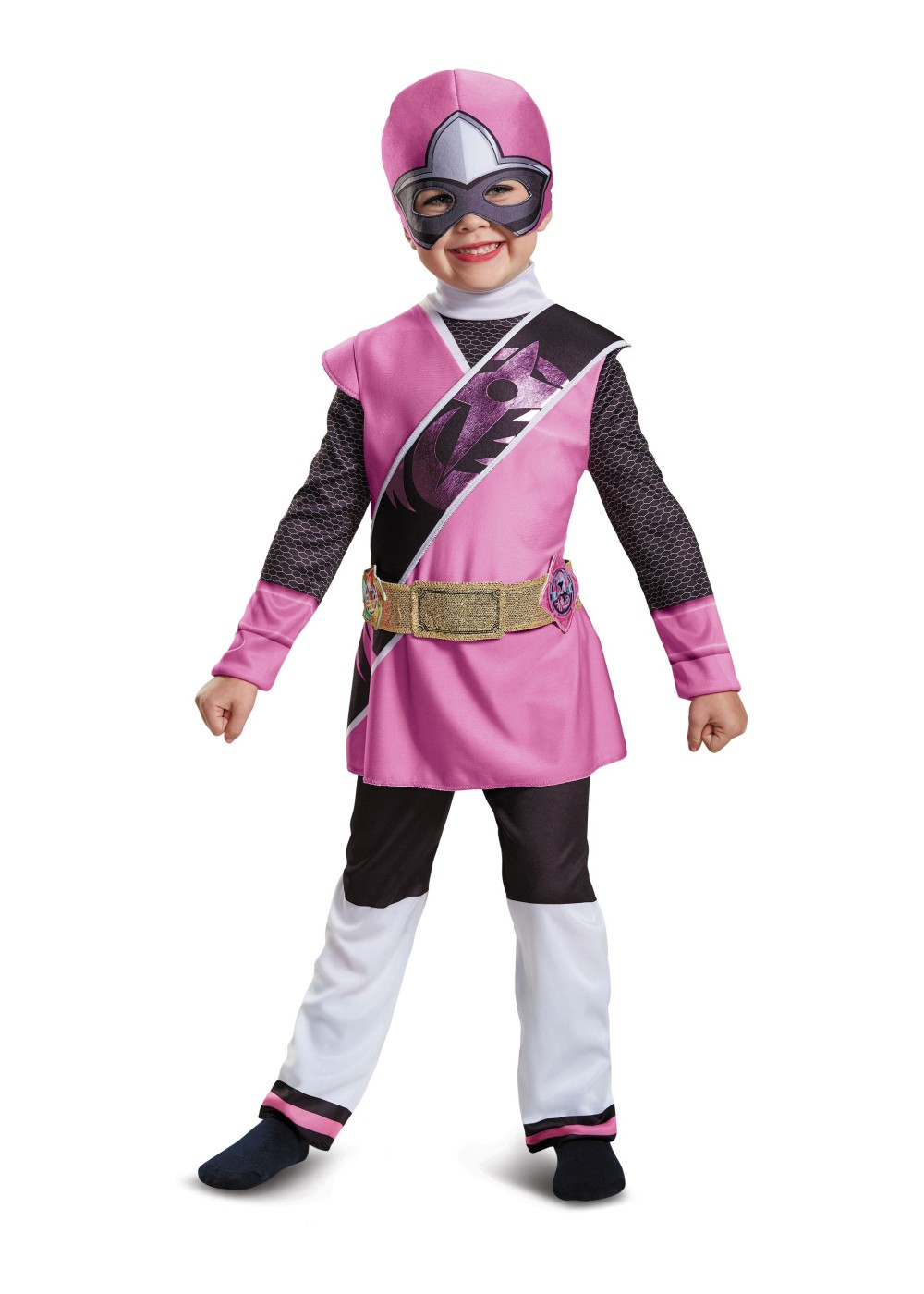 Kids Pink Power Ranger Deluxe Toddler Girls Costume