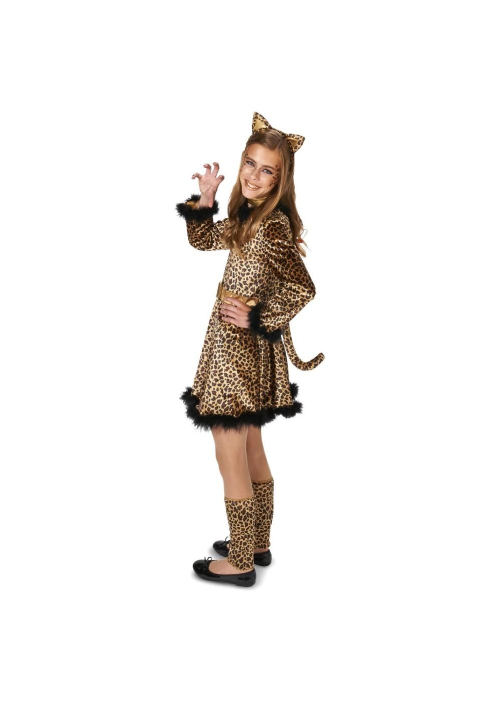 Teen Girls Leopard Dress Costume Animal Costumes