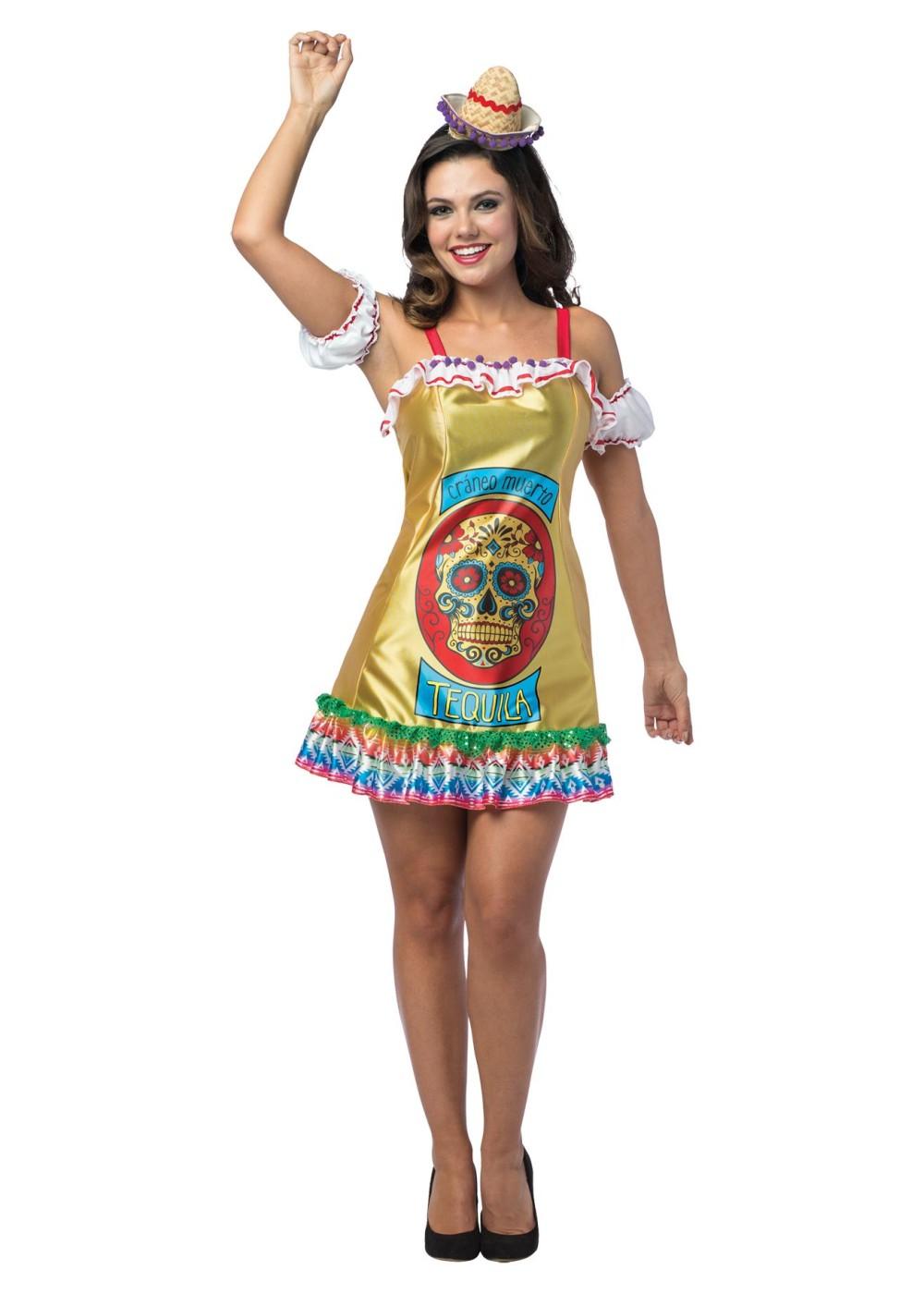 Womens Tequila Dress Costume
