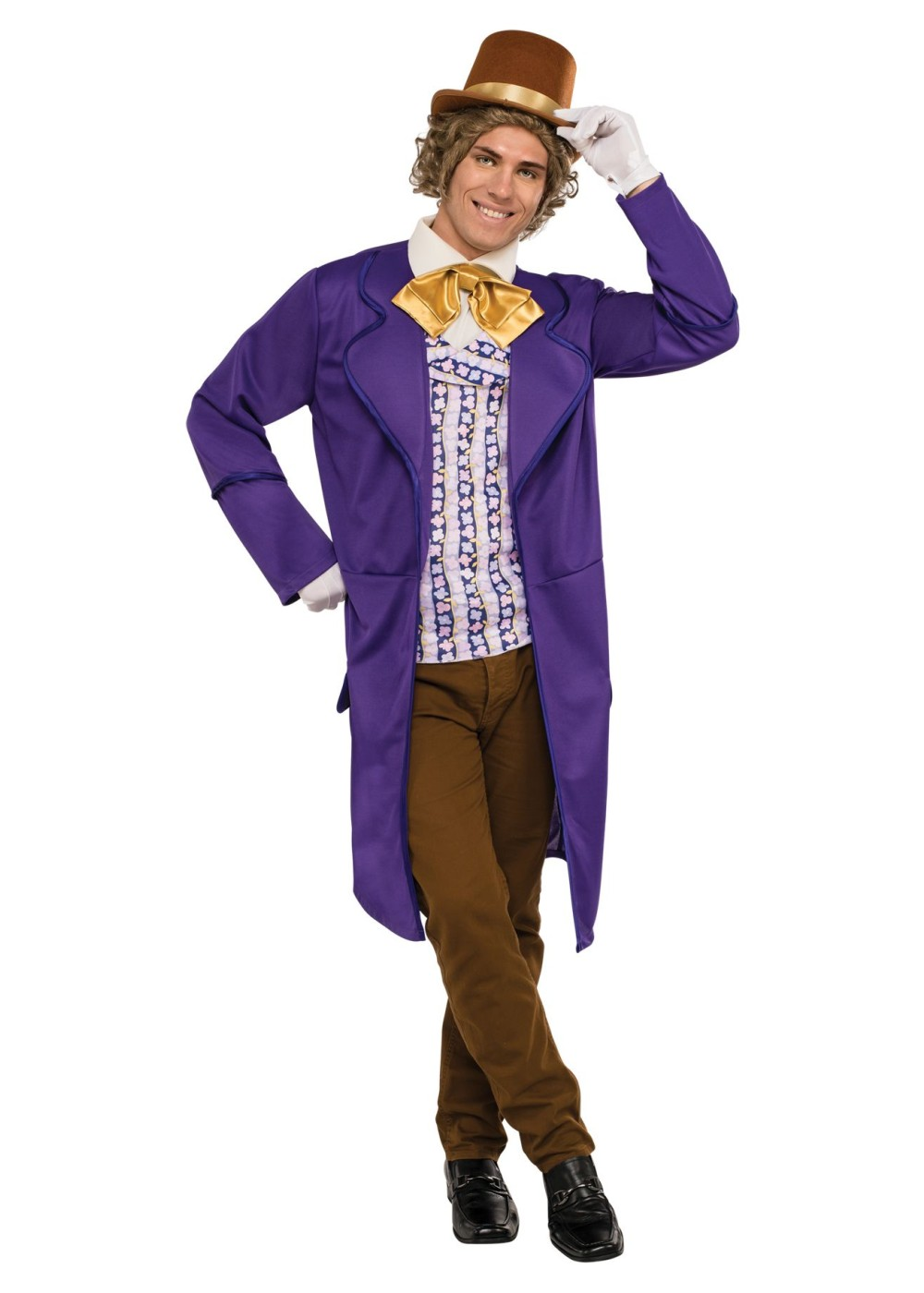 Willy Wonka Men Costume Movie Costumes