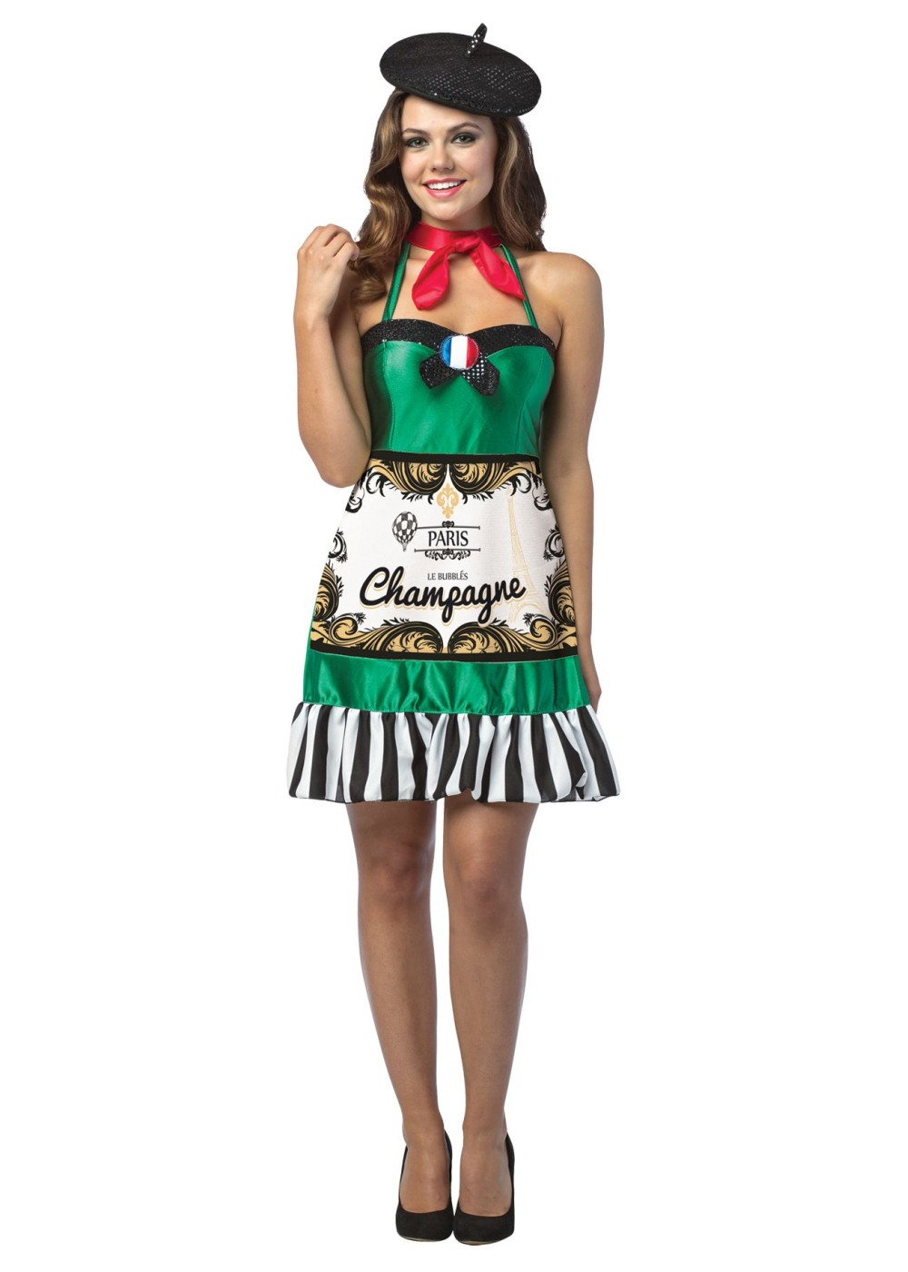 Womens Champagne Bottle Dress Funny Costumes