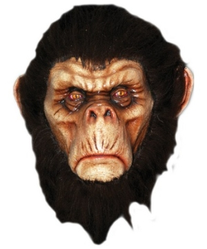 Chimp Latex Adult Mask Accessory